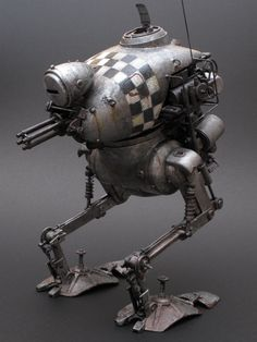 """Kröte """"checkerboard pattern"""". NITTO Ma.K. 1/20 scale. By Chike. #Ma_K #Maschinen_Krieger #Krote http://www.fg-site.net/archives/post_old/78748"""