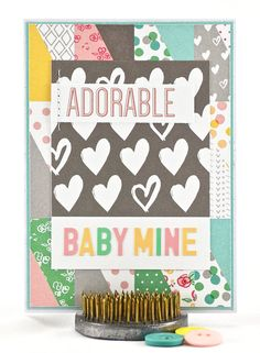 """This newborn baby card celebrates the amazing and beautiful miracles born into this world. In this case you're saying, """"welcome baby girl"""" with a soft and pretty new baby girl card. To purchase this baby card, please click on the image."""
