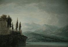 John Robert Cozens, Isola Bella On Lago Maggiore, 1783, watercolour on paper, 36.6 x 52.7 cm