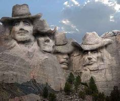 """If Mt. Rushmore was in Texas ...  Haha!  """"C'mon now, I know it's hard for a Texan to believe, but not everything is about Texas"""" <3  / mpc"""
