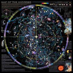 宇宙の地図 - ©Spaceshots アートプリント
