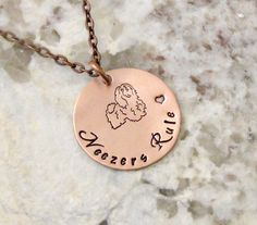 Havanese Dog Hand Stamped Sterling Silver by talktothepaws on Etsy