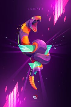 This illustrations is based in a Pokemon character named Ekans and is inspired in the oriental art. It´s made for the Peruvian Artists Pokedex Project. Graphic Design Trends, Graphic Design Inspiration, Ekans Pokemon, Pikachu, Digital Illustration, Graphic Illustration, Pokemon Characters Names, Site Art, Magazine Layout Design