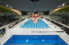 1st dive in the Aquatics Centre