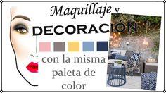 Decoración y maquillaje con la misma paleta de color - colab