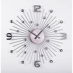 Crystal nástenné hodiny JVD HT074.2 -antracit, 49 cm | Dekorácie do bytu