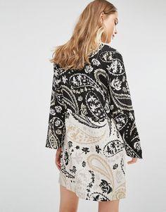 BCBG Max Azria Tunic Dress in Meadow Paisley Print