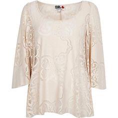 Beige Chelsea Girl oversized sleeve top - blouses - blouses / shirts - women