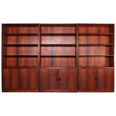 Rosewood Bookcases by Børge Mogensen for Soborg