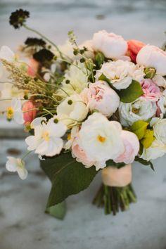 Beautiful bouquet: http://www.stylemepretty.com/michigan-weddings/detroit/2015/04/21/elegant-gold-infused-detroit-art-museum-wedding/ | Photography: Jill Devries - http://www.jilldevries.net/