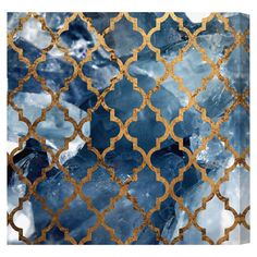 Showcasing a stone motif with a trellis overlay, this eye-catching canvas print adds a chic touch to your living room or bedroom.  P...