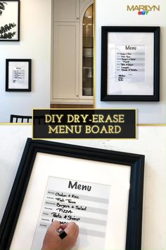Take the stress out of weekly meal planning with this easy DIY menu board from @chichihome.