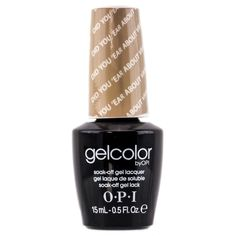 GelColor by OPI Soak-Off Gel Lacquer nail polish