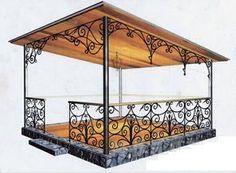Pergola Above Garage Door Iron Furniture, Garden Furniture, Tiny House Australia, Iron Pergola, Cheap Pergola, Garden Design, House Design, Iron Gates, Pergola Plans