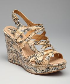 Take a look at this Natural Snakeskin Brygida Sandal by b.o.c. by Born on @zulily today!