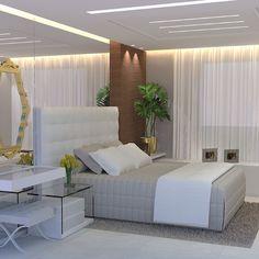 Mais um projeto #suitecasal #decoração #decor #espelhos #iluminação indireta. #Padgram