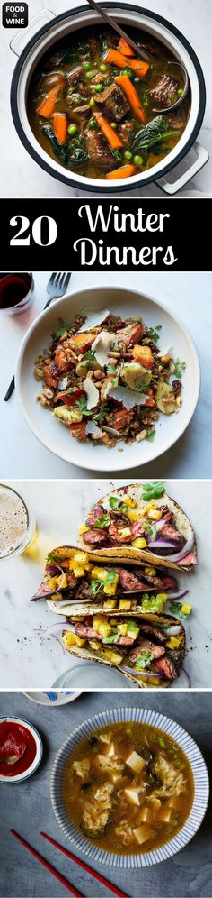When the winter chill has crept up your spine, only a warm and inviting dinner can thaw you out. These recipes, from stews to roasts, are the perfect remedy to any winter blues.   Food & Wine