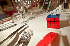rubix cube wedding favour http://www.chrisbarberphotography.co.uk/