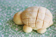 Turtle Melon Bread from http://www.diamondsfordessert.com/2009/11/turtle-melon-pan.html