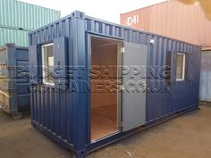 Shipping Container Office (Nearly New) From our range of shipping container offices Small Shipping Containers, Shipping Container Conversions, Converted Shipping Containers, Shipping Container House Plans, Container Bar, 20ft Container, Container Houses, Container Architecture, Sustainable Architecture
