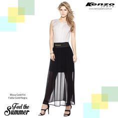 Es la falda una prenda delicada y moderna, es fabulosa para lograr un #look elegante y muy femenino. #KenzoJeans www.kenzojeans.com.co