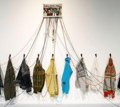 Fiber artist Kari Steihaug creates large-scale installations using vulnerable materials, such as knitwear. For more on Steihaug, read DeNada's blog.