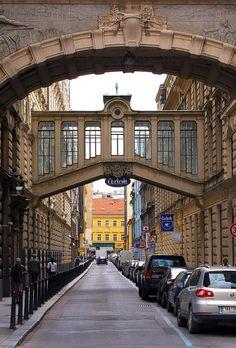 Alley in Prague, Czech Republic