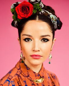 Frida Kahlo inspired hair & makeup