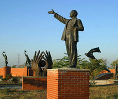 Memento Park, Budapest - Rather than destroy Communist statues, the city moved them to a suburban park. My buddy Drew visited the park after I'd left. Sorry I missed it. Christmas In Europe, Christmas 2015, Warsaw Pact, Buda Castle, Horse Sculpture, Budapest Hungary, Back In Time, Oh The Places You'll Go, State Parks