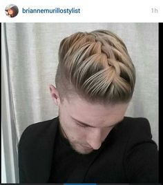 Future in Hair Mens Braids Hairstyles, French Braid Hairstyles, Cool Hairstyles For Men, Haircuts For Men, Curly Hair Men, Mens Hair, Hair And Beard Styles, Curly Hair Styles, Hair Brained
