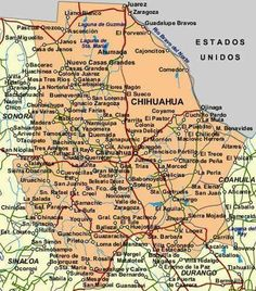 map of chihuahua mexico mexico map