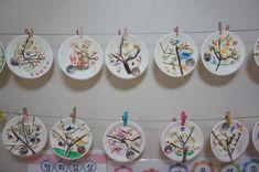 4월 봄 프로젝트 : 팝콘으로 벚꽃나무 만들기 환경구성 : 네이버 블로그 Diy And Crafts, Arts And Crafts, New Classroom, Garden Theme, Fun Activities For Kids, Art For Kids, Preschool, Plates, Holiday Decor
