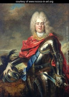 Crown Prince Frederick Augustus of Saxony (1670-1733) by Nicolas de Largilliere