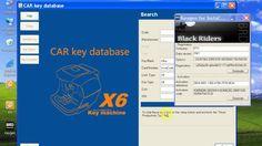 x6 car key database intall video