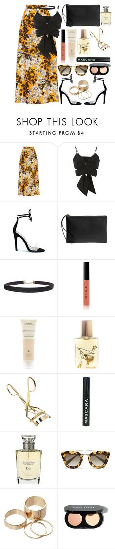 """🖤"" by burcaak ❤ liked on Polyvore featuring MSGM, Christian Siriano, Iris & Ink, Humble Chic, Bobbi Brown Cosmetics, Aveda, Flidais Parfumerie, Christian Dior, Prada and Call it SPRING"