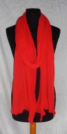 Orans Red Long Scarf  Icelandoc Production by HuldaGK on Etsy