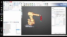 Advanced 3D printing with ABB robot by XMARTPLM Offline robot programming in SprutCAM Robot