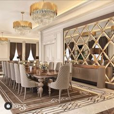 Home Room Design, Dining Room Design, Home Interior Design, Mirror Decor Living Room, Room Decor, Luxury Dining Room, Home Decor Furniture, Decoration, Architecture