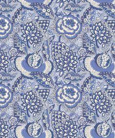 Liberty Furnishing Fabrics China Blue Patricia Anne Wallpaper | Home | Liberty.co.uk
