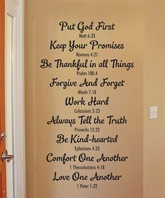 This 'Bible Family Rules' Wallquotes.com Decal by Wallquotes.com by Belvedere Designs is perfect! #zulilyfinds