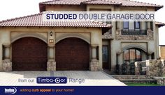 Want to make an impact? These Studded design single garage doors from our Timba-dor™ will surely do the trick. www.doorzonesa.com