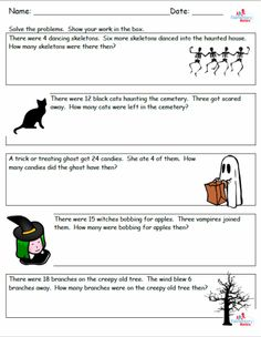 Halloween Math Problems