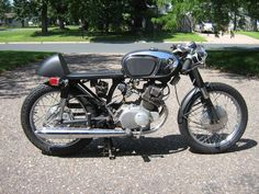 Adam McGuire, with some help from his father restored this 1966 Honda from its barn-find condition. Adam was kind enough to tell me more about this superb restoration Vintage Honda Motorcycles, Garage Bike, Honda Cb, Barn Finds, Restoration