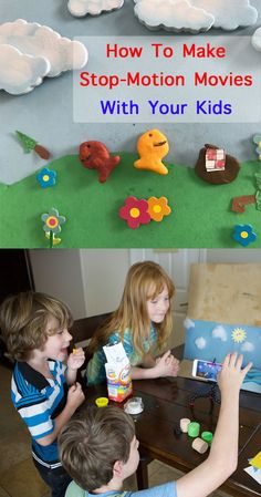 Fun things to do on a rainy day; tips to make a stop motion movie Crafts For Kids To Make, Projects For Kids, Art For Kids, Kids Crafts, Stop Motion Photography, Stop Motion Movies, Kid Movies, Business For Kids, Craft Activities