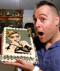 """Tony """"The Pastryarch"""" Albanese & his Madonna Nipple Flash MDNA Tour Birthday cake by Tony """"The Pastryarch"""" Albanese I made this cake 100% by hand with modeling chocolate of Madonna's infamous nipple/breast flash in Istanbul during """"Human Nature"""" on The MDNA Tour for my Birthday. I'm going back to my """"Cake Boss"""" 'erotic, exotic' roots and doing naughty things with modeling chocolate! ;) The whole thing was completely edible. www.facebook.com/thepastryarch and www.twitter.com/ThePastryarch."""