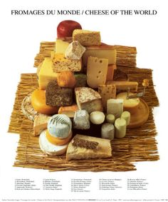 Cheeses of the World Art Print at AllPosters.com