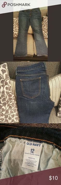 Old Navy Sweetheart Jeans Old Navy jeans, sweetheart bootcut. Very flattering. Gently worn, dark wash. Old Navy Jeans Boot Cut