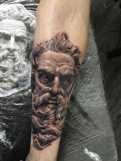 Poseidon / Neptune / Zues tattoo Greek Mythology