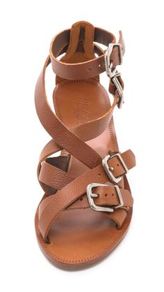 strappy sandals.