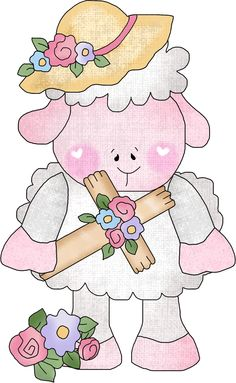 EASTER LAMB 1 Easter Lamb, Cute Sheep, Lambs, Images, Clip Art, Printables, Graphics, Random, Spring